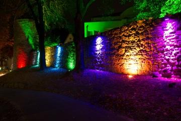 Recklinghausen leuchtet 2013 - Alte Stadtmauer an der Engelsburg