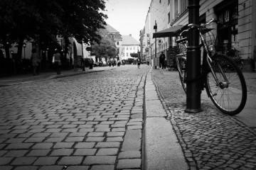 Straßenszene am Nikolai-Viertel