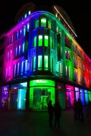 Recklinghausen leuchtet 2015 - Fassade Hettlage + Fashion