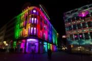 Recklinghausen leuchtet 2015 - Fassade DM und Hettlage + Fashion