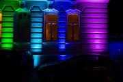 Recklinghausen leuchtet 2015 - Hausfassade Tri-Color