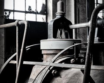 Überdruckventil an der Fördermaschine
